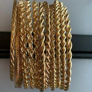 Faux Gold Bangle Bracelets